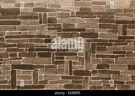 Brown brick abstract background - Stock Photo