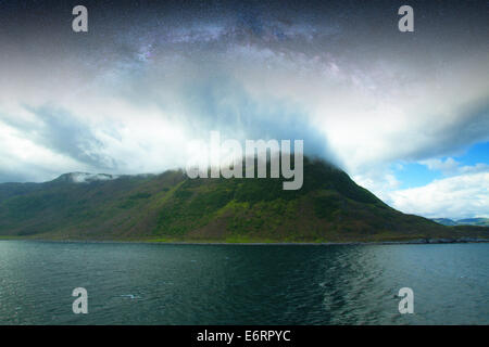 Night Fjord In The Most Beautiful Place On Earth Stock Photo Royalty Free Image 73052357 Alamy