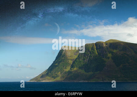 Night Fjord In The Most Beautiful Place On Earth Stock Photo Royalty Free Image 73052345 Alamy