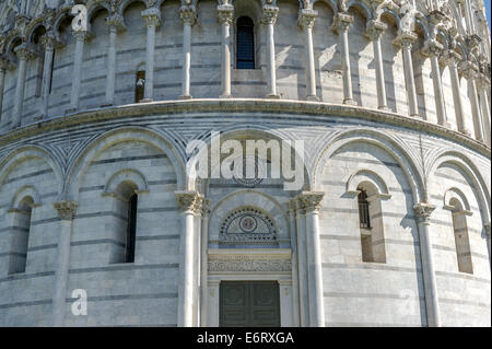 The Pisa Baptistery in the Square of Miracles, Pisa, Italy - Stock Photo