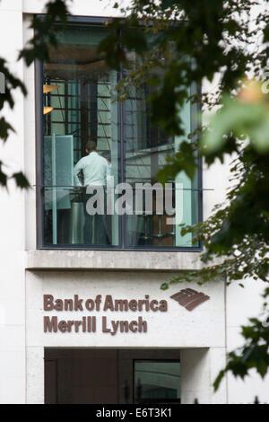 Bank of America Merrill Lynch London UK - Stock Photo