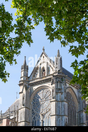 Cathedral of St Julien, Le Mans, France, Europe - Stock Photo