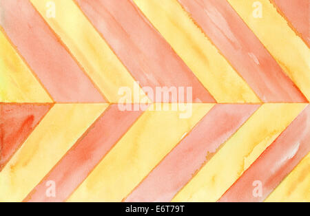 Watercolor background in red and yellow colours - Stock Photo