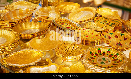 Gold on the famous 'Golden souk' in Dubai - Stock Photo