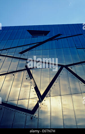 Exterior of Jewish Museum in Kreuzberg Berlin Germany; architect Daniel Libeskind - Stock Photo