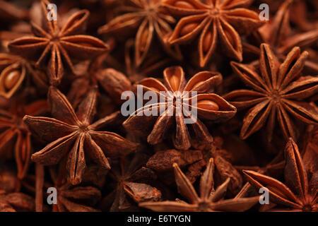 Star anise background. - Stock Photo