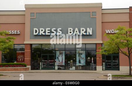 ANN ARBOR, MI - AUGUST 24: Dress Barn east Ann Arbor store is shown on August 24, 2014.