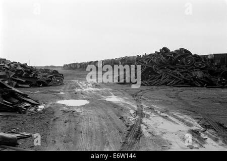 scrapped ex british railways steam locomotives at woodhams scrapyard barry island wales in 1974 - Stock Photo