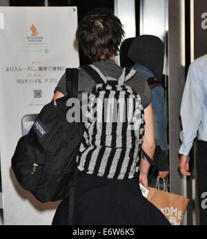 Kristen Stewart, Equals, August 29, 2014, Tokyo, Chiba, Japan : Actress Kristen Stewart leaves at Narita International - Stock Photo