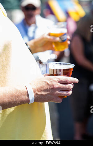 Smokin Brew BBQ summer festival. - Stock Photo