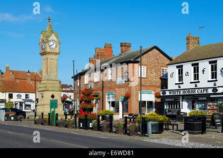 The Market Place In Thirsk Town Centre North Yorkshire Uk