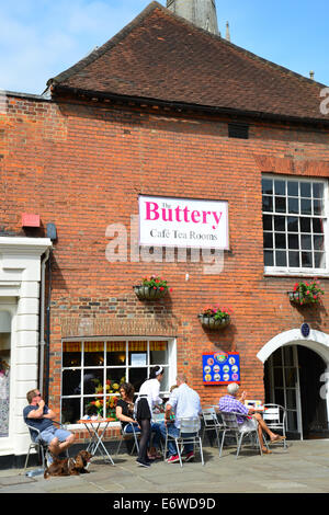 The Buttery Tea Rooms, South Street, Chichester, West Sussex, England, United Kingdom - Stock Photo