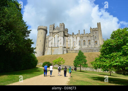 Path to Arundel Castle, Arundel, West Sussex, England, United Kingdom - Stock Photo