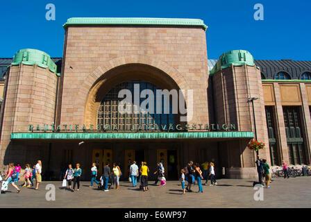 Rautatieasema, central railway station, Helsinki, Finland, Europe - Stock Photo