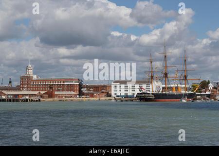 HMS Warrior portsmouth hampshire england uk gb - Stock Photo