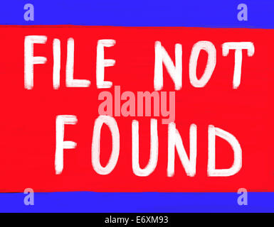 file not found - Stock Photo