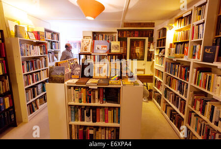 Second hand bookshop interior, Lincoln, Lincolnshire England UK - Stock Photo
