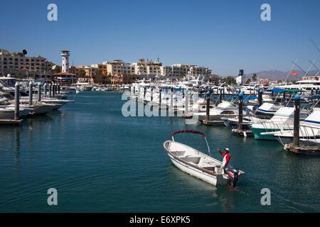 Yachts in the marina, Cabo San Lucas, Baja California Sur, Mexico - Stock Photo