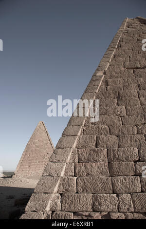 Pyramids near Jebel Barkal, Napata, Karima, Northern, Sudan - Stock Photo