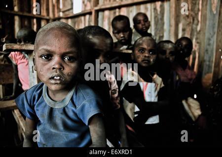 Children in a Massai village school, Kenya, Africa - Stock Photo