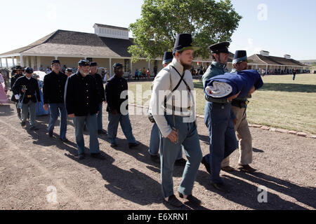 Old Fort Day annual event in Fort Davis Historical Site, Texas. The military post hosted the Buffalo Soldiers. - Stock Photo