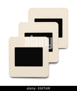 Three Paper Slides with Copy Space Isolated on White Background. - Stock Photo