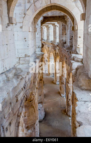 Roman Amphitheatre, Arles, Provence, France - Stock Photo
