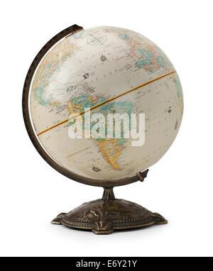 Large World Globe Isolated on White Background. - Stock Photo