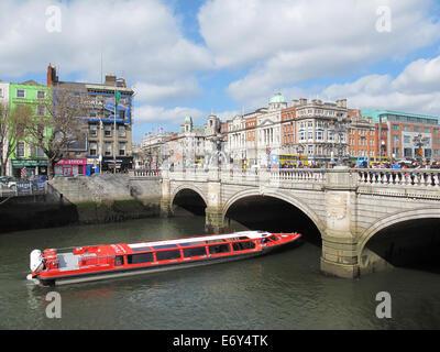 River Liffey Cruise - Stock Photo