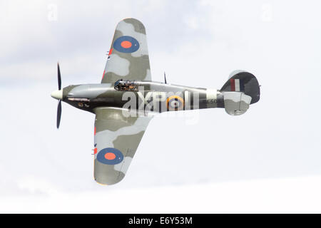 Hawker Hurricane Mk IIb BE505 (registered G-HHII), the last flying 'Hurribomber', operated by The Hangar 11 Collection - Stock Photo