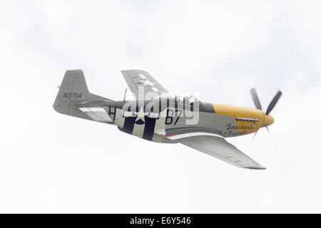 North American P-51D Mustang '413704 / B7-H' (G-BTCD) Although painted in the markings of '44-13704' named 'Ferocious - Stock Photo