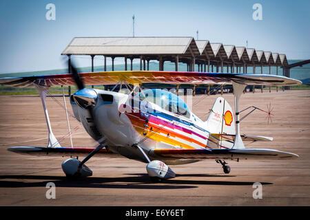 Christen Eagle II from Cmt Edison Andrade in brazilian acrobatic championship. - Stock Photo