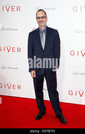 Writer Robert B. Weide attends the premiere of 'The Giver' at the Ziegfeld Theatre on August 11, 2014 in New York - Stock Photo