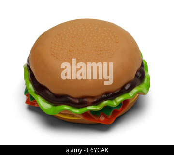 Rubber Squeaky Burger Isolated on White Background. - Stock Photo