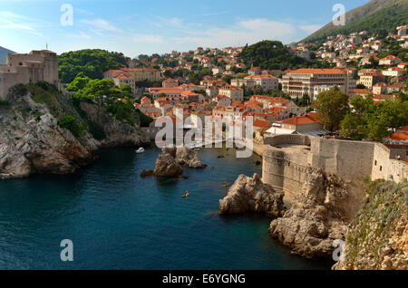 West bay of Dubrovnik Old city in Croatia - Stock Photo