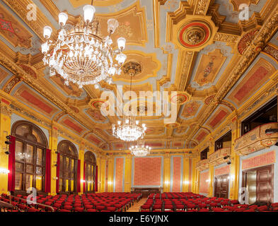 Interior of Artus Court, leading social center of old Torun. Situated in the Old Market Square. - Stock Photo