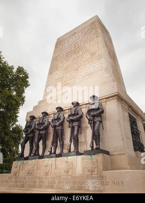 war memorial for the household division situated on horseguards parade London - Stock Photo