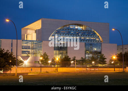 Bundeskanzleramt, German Chancellery, Regierungsviertel government quarter, Tiergarten district, Berlin, Germany, - Stock Photo