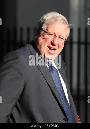 London, UK, 2nd September 2014: Patrick McLoughlin seen at Downing street in London, UK. - Stock Photo