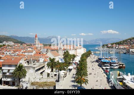 Trogir, Croatia. Old Town. Trogir ia an UNESCO world heratige site. - Stock Photo