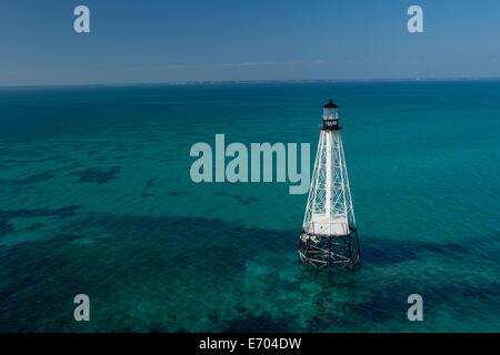 Alligator Reef Light. - Stock Photo