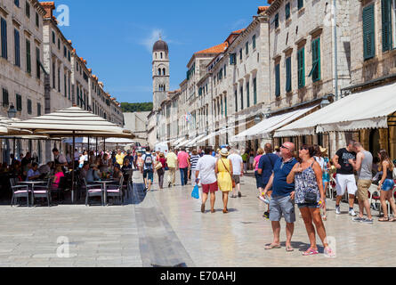 Tourists visiting Dubrovnic - Stock Photo