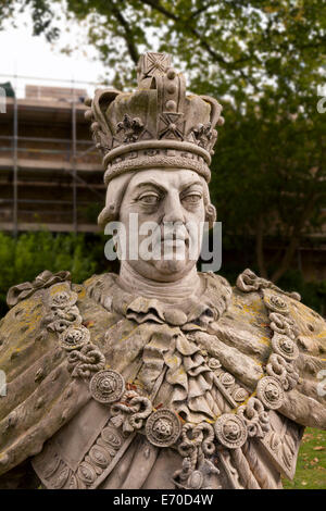 A statue of King George iii of England, in the grounds of Lincoln Castle, Lincolnshire UK - Stock Photo