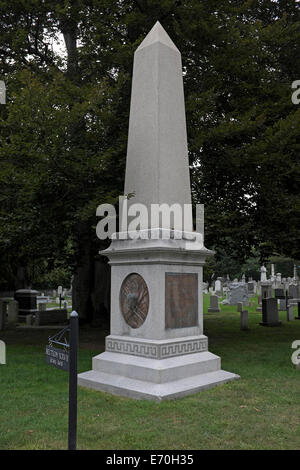 Grave of General George Armstrong Custer, 1839 - 1876, West Point Cemetery, New York