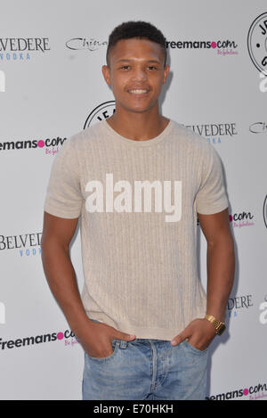 London, UK. 2nd Sep, 2014. Percelle Ascott attends the Jeans for Genes Day 2014 - launch party at Chinawhite in - Stock Photo