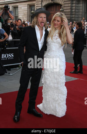 London, UK, 2nd September 2014: Dougie Poynter and Ellie Goulding attend the GQ Men of the Year awards at The Royal - Stock Photo