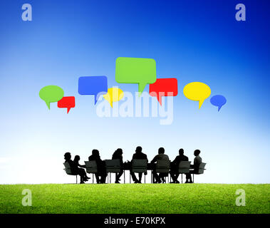 Outdoor Business Meeting - Stock Photo