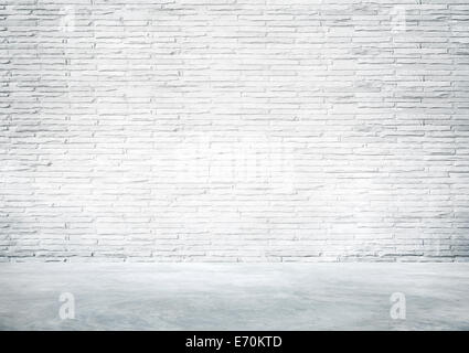 Empty White Industrial Interior Wall For A Copy Space - Stock Photo