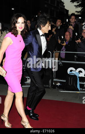 London, UK. 2nd Sep, 2014. Sally Wood ; Ronnie Wood attend the GQ Men of the Year Awards at The Royal Opera House - Stock Photo