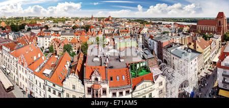 High resolution panorama of Torun, Poland. - Stock Photo